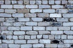 Wand des alten weißen Ziegelsteines Lizenzfreie Stockfotografie