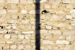 Wand des alten weißen Ziegelsteines Lizenzfreies Stockbild