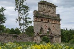 Wand des alten zerstörten Gebäudes Lizenzfreie Stockfotos