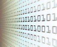 Wand des binären Codes Stockfotos