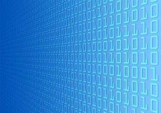 Wand des binären Codes Stockfoto