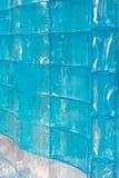 Wand des blauen Glases Stockfoto