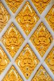 Wand des buddhistischen Tempels Stockfotografie