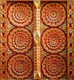 Wand des buddhistischen Tempels Stockfotos