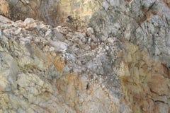 Wand des Felsenhintergrundes Lizenzfreie Stockfotografie