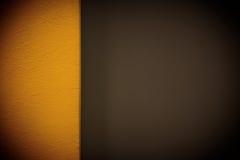 Wand des gelben Brauns Stockbild