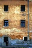 Wand des gelblichen Brauns Stockbild