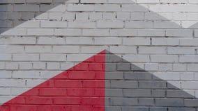 Wand des gemalten Ziegelsteines stockfotos