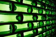 Wand des grünen Glases Stockfotografie