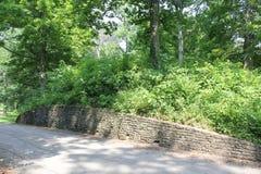 Wand des großen Zugangs am Fort alt Lizenzfreie Stockfotos