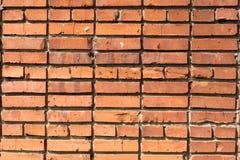 Wand des Hauses vom roten Backstein Lizenzfreie Stockfotografie