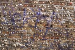 Wand des Kaugummis stockfotos