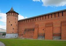 Wand des Kolomna der Kreml lizenzfreie stockbilder