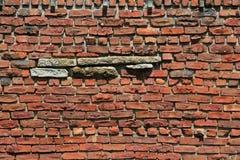 Wand des roten Backsteins Lizenzfreie Stockfotos