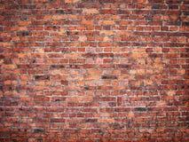 Wand des roten Backsteins in der Weinleseart, Maurerarbeithintergrund Lizenzfreies Stockbild