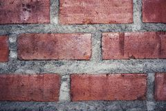 Wand des roten Backsteins für Beschaffenheit oder Hintergrund Lizenzfreie Stockfotografie