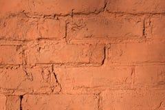 Wand des roten Backsteins für Hintergrund oder Beschaffenheit stockfoto
