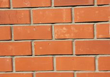 Wand des roten Backsteins, Hintergrund Stockfotografie