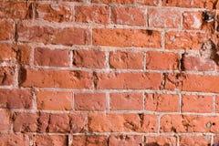 Wand des roten Backsteins Innenausstattung des Gebäudes Stockfoto