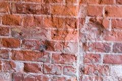 Wand des roten Backsteins Innenausstattung des Gebäudes Stockbild