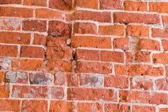 Wand des roten Backsteins Innenausstattung des Gebäudes Lizenzfreie Stockbilder