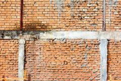 Wand des roten Backsteins, orange Lizenzfreie Stockfotos