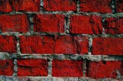 Wand des roten Steinhintergrundes Stockbilder