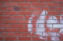 Wand des roten Ziegelsteines Lizenzfreie Stockbilder