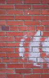 Wand des roten Ziegelsteines Stockbild