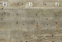 Wand des Schloss La Mota, Spanien Lizenzfreies Stockbild