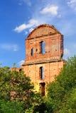 Wand des Schlosses in Korets Stockfotografie