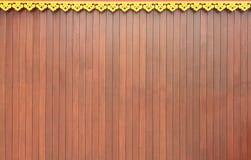 Wand des siamesischen Kunst- und Bildschirmholzes Stockbild