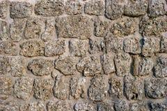 Wand des Steins Steine von verschiedenen Formen passend für Hintergrund Lizenzfreies Stockbild
