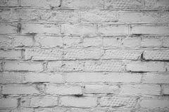 Wand des weißen Ziegelsteines Stockfotografie