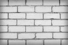 Wand des weißen Ziegelsteines Lizenzfreies Stockfoto
