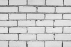 Wand des weißen Ziegelsteines Lizenzfreie Stockfotografie