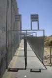 Wand, die Israel trennt   Stockfotografie