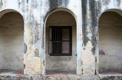 Wand eines alten Gebäudes Stockfoto