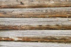 Wand eines Blockhauses Stockfotos