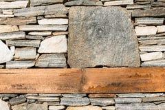 Wand errichtet von den Steinen. Sun-Licht Stockfoto