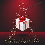 wand för julmagipresent vektor illustrationer