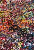 Wand gemalt mit feinen Graffiti lizenzfreie stockfotografie