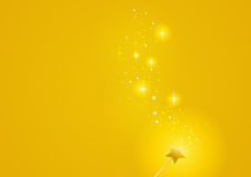 Wand gold sparkles 1 Royalty Free Stock Images