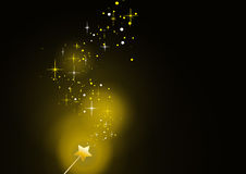 Wand gold sparkles 3 Royalty Free Stock Photography