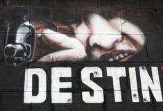 Wand-Graffiti Stockbild
