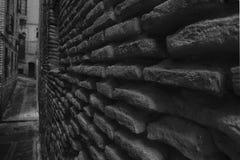 Wand-Haus in Toledo (Schwarzweiss) Stockfoto