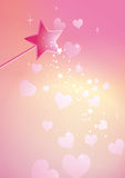 Wand hearts Stock Images