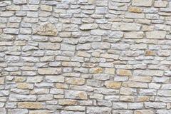Wand hergestellt vom natürlichen Kalkstein Stockbild