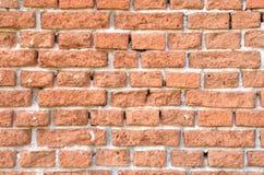 Wand hergestellt von den alten verwitterten Ziegelsteinen, Nahaufnahme Lizenzfreies Stockbild