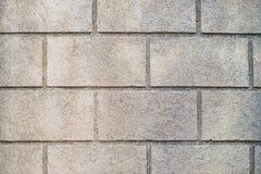 Wand hergestellt von den großen Ziegelsteinen Stockfotografie